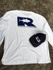 Offshore Performance Shirt LS - White/Navy