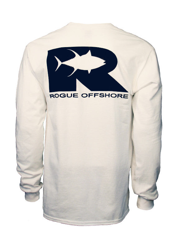 Tuna Logo LS T-Shirt - White/Navy