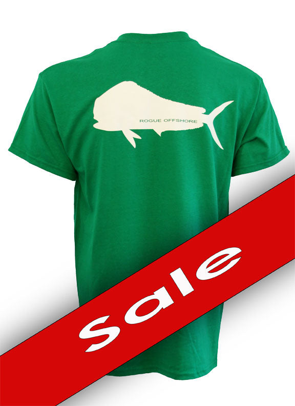 Mahi-Mahi Design SS T-Shirt - Kelly Green/White