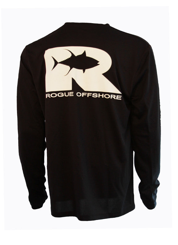 Offshore Performance Shirt LS - Black/White
