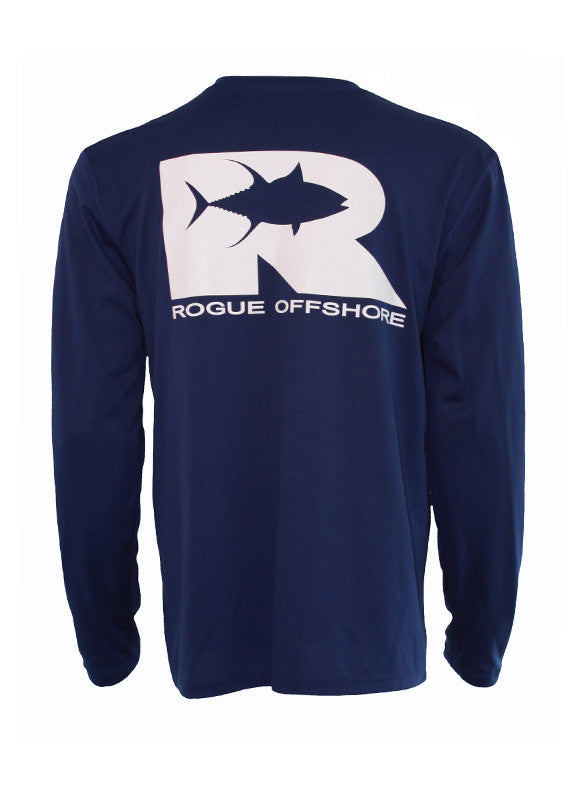 Offshore Performance Shirt LS - Cobalt/White