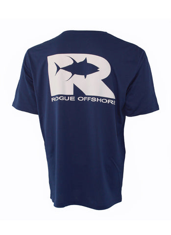 Offshore Performance Shirt SS - Cobalt/White