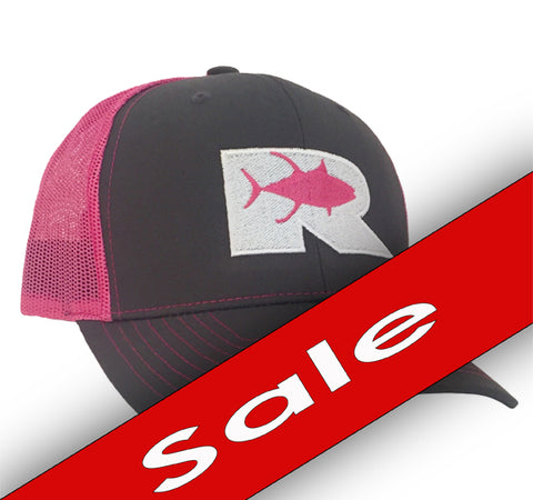 Rogue Tuna Trucker Hat - Charcoal / Pink