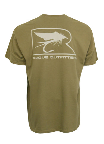 Rogue Fly  Logo LS T-Shirt - Prairie / Grey