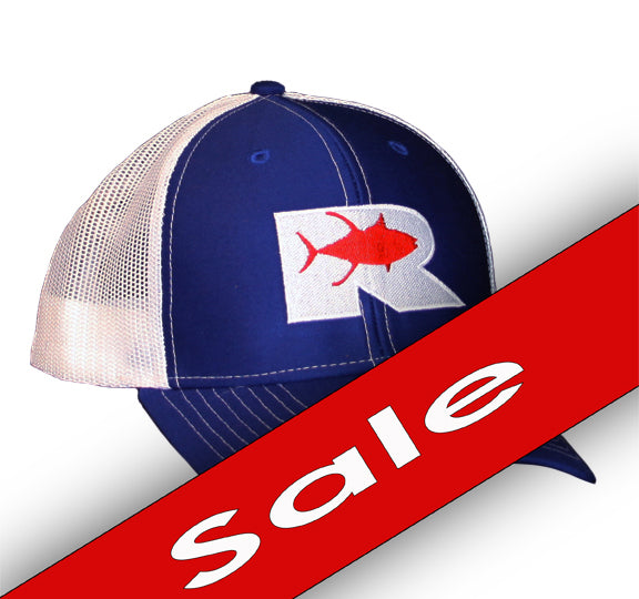 Rogue Tuna Trucker Hat - Red, White and Blue