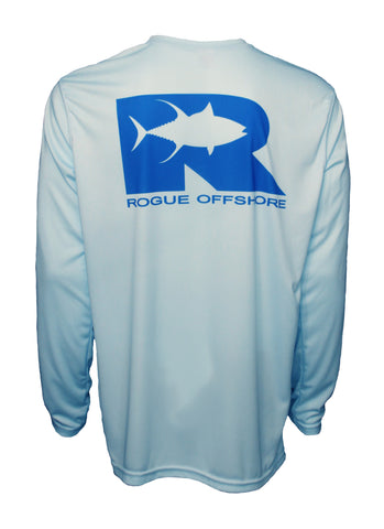 Rogue Tuna logo Performance Shirt Arctic / Ocean Blue