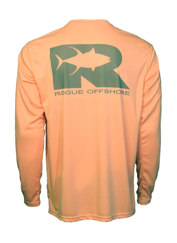 Rogue Tuna logo Performance Shirt Salmon / Charcoal