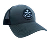 Rogue Outfitters Offshore Trifrecta Trucker Hat (Charcoal and Black)
