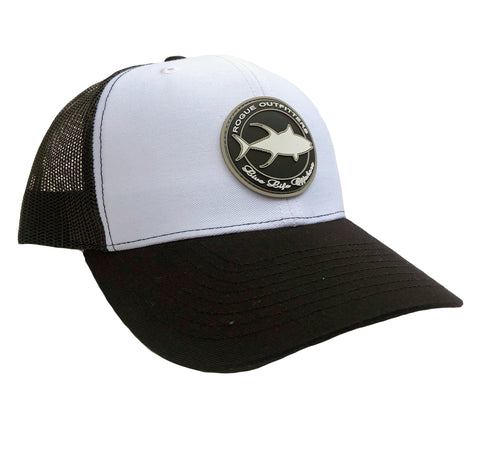 Rogue Outfitters Tuna Patch Trucker Hat (White and Black)