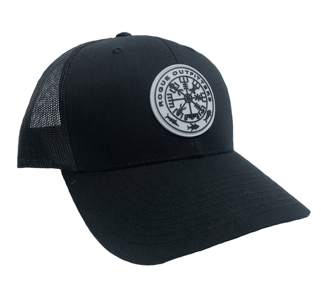 Rogue Outfitters Viking Compass Patch Trucker Hat (Black)