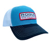 Rogue Outfitters Offshore-to-Inshore Trucker Hat (Columbia and Navy Blue)