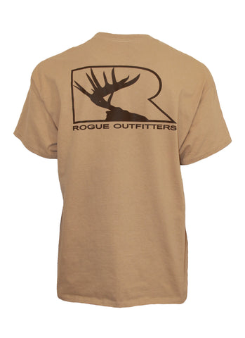 Rogue Outfitters Deer Logo SS Tee - Tan/Chocolate