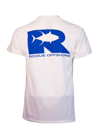 Rogue Tuna Tech Tee - White/Royal