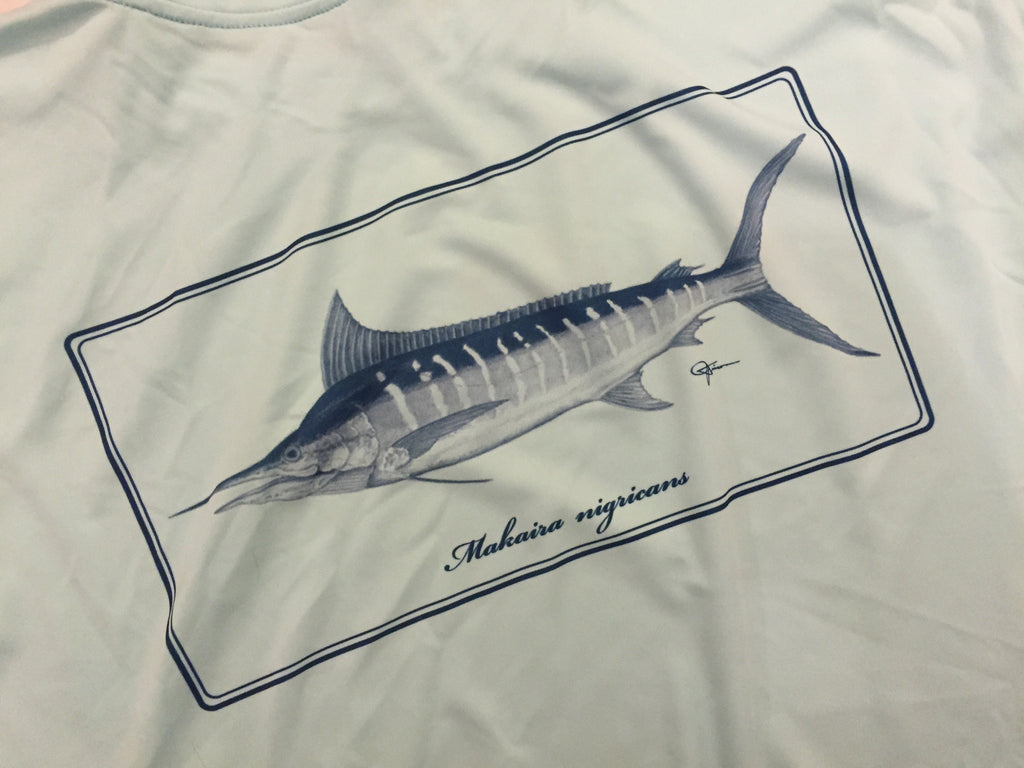 Makaira Nigricans (Blue Marlin) Artwork Performance Shirt