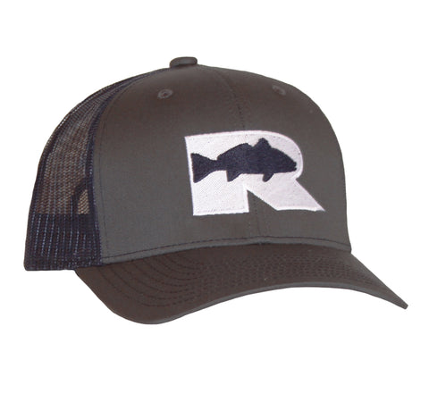 Rogue Redfish Trucker Hat - Charcoal/Navy