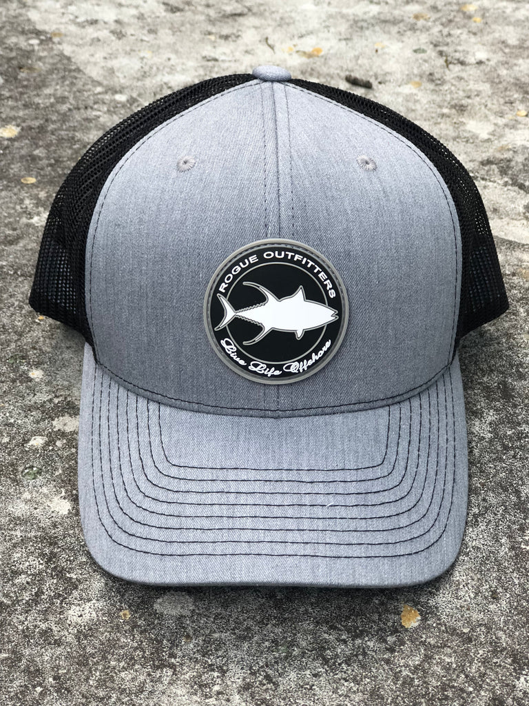 8f69fc29 Rogue Outfitters Tuna Patch Trucker Hat (Heather Grey and Black ...