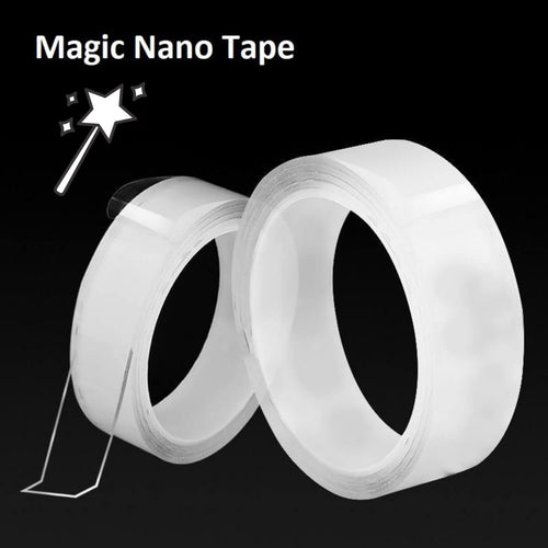 Transparent Reusable Traceless Adhesive Washable Magic Double-Sided Nano Tape - PigDiscount.com
