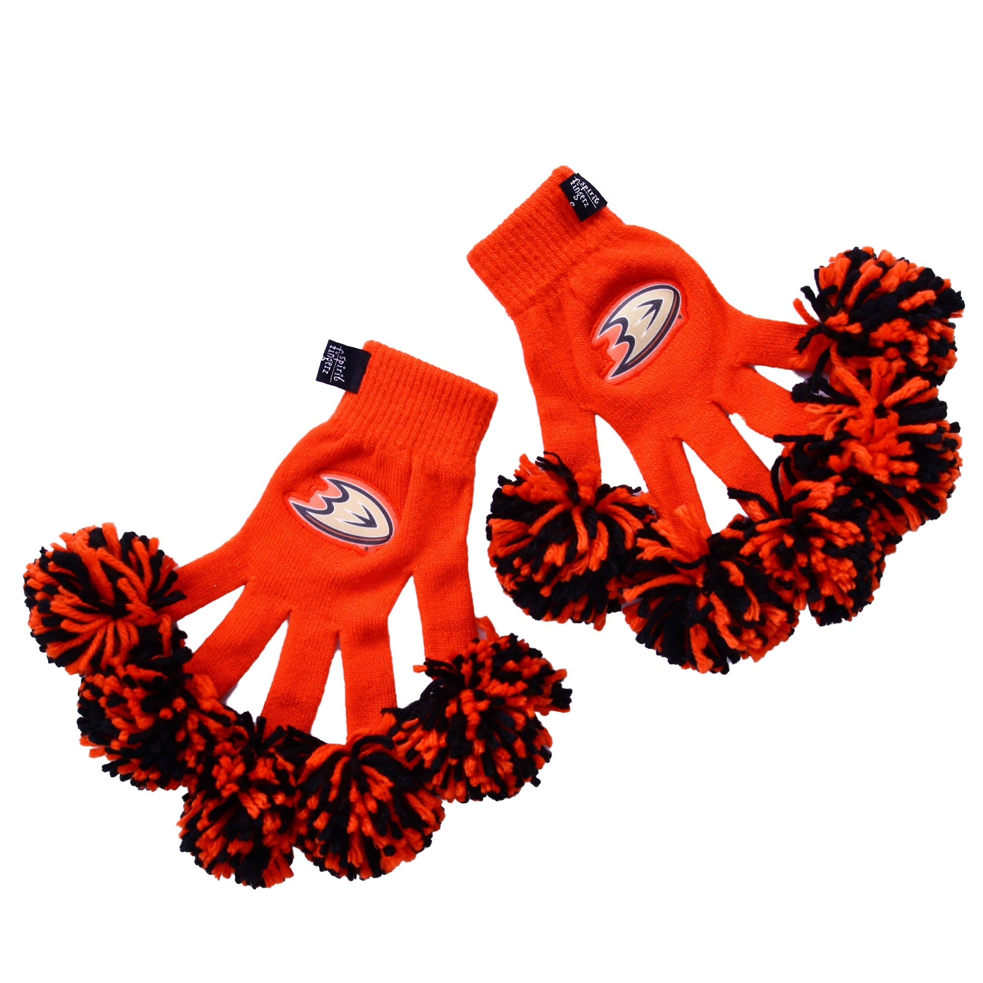 Anaheim Ducks NHL Spirit Fingerz Cheerleading Pom-Pom Gloves