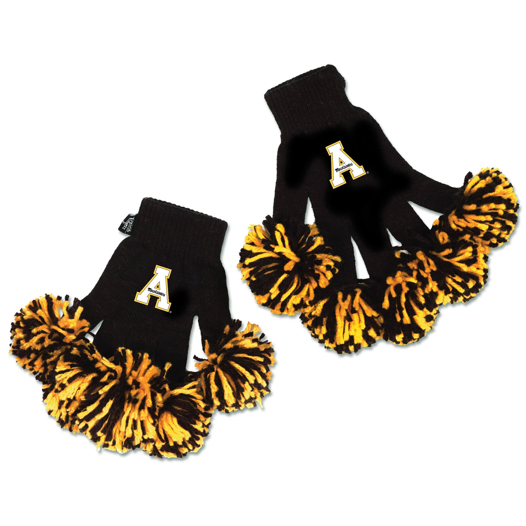 Appalachian State Mountaineers NCAA Spirit Fingerz Cheerleading Pom-Pom Gloves