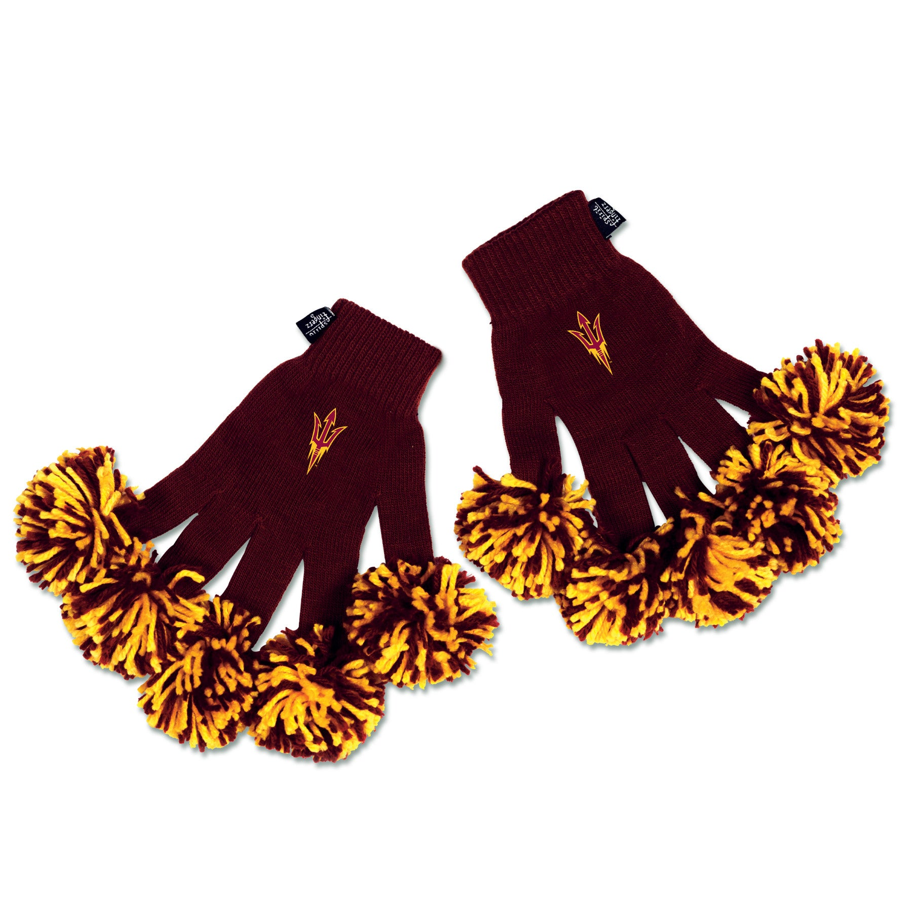 Arizona State Sundevils NCAA Spirit Fingerz Cheerleading Pom-Pom Gloves