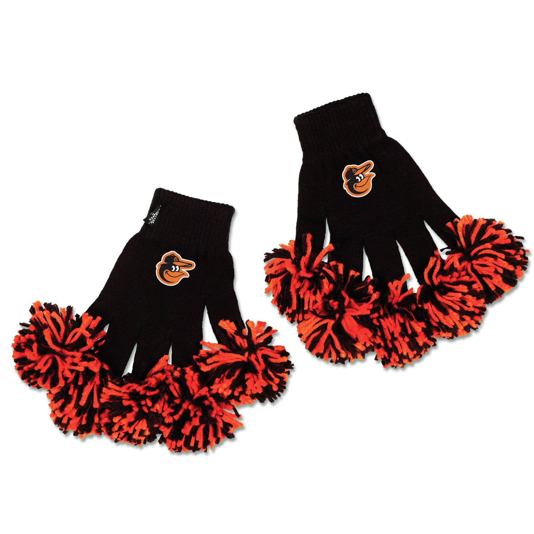 Baltimore Orioles MLB Spirit Fingerz Cheerleading Pom-Pom Gloves