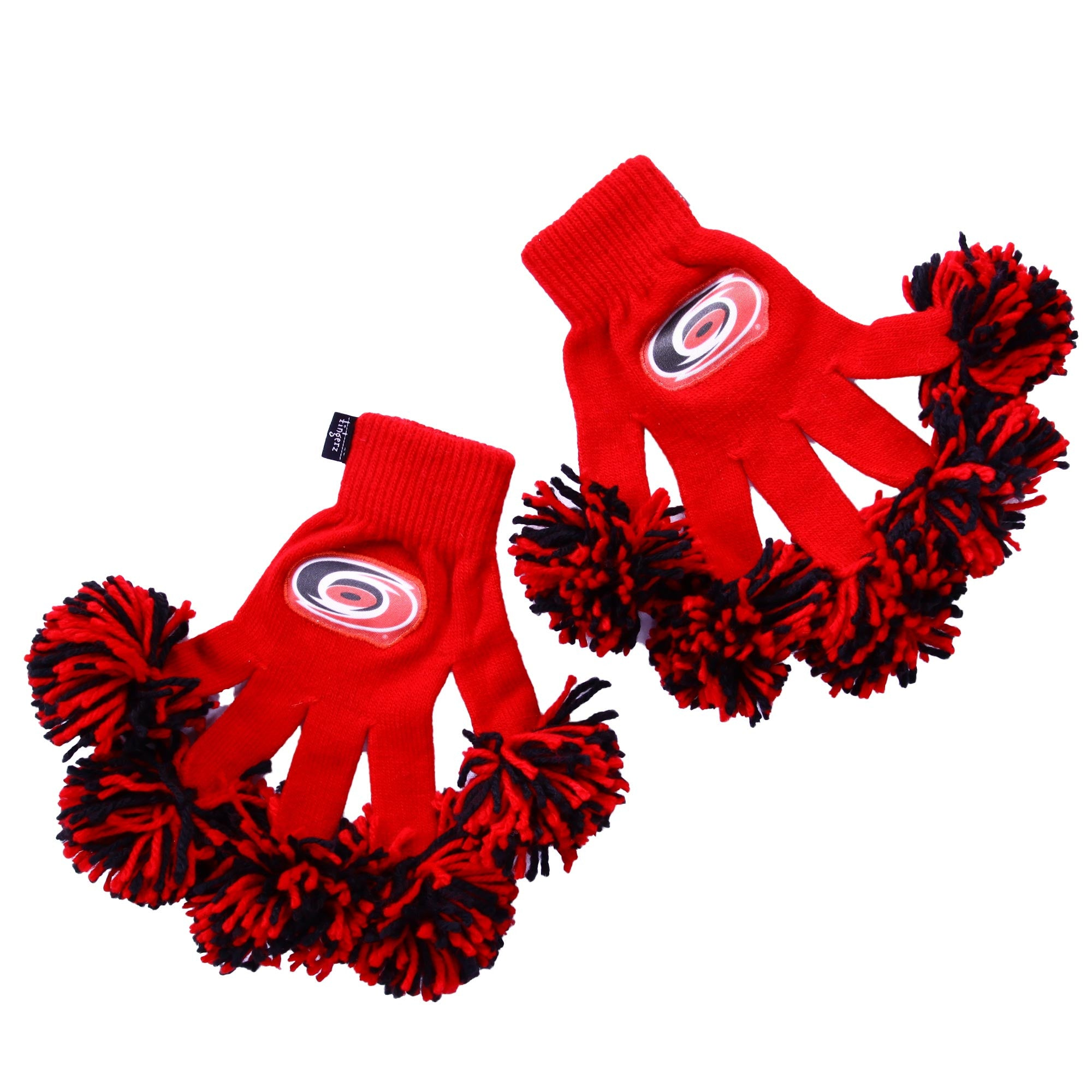 Carolina Hurricanes NHL Spirit Fingerz Cheerleading Pom-Pom Gloves
