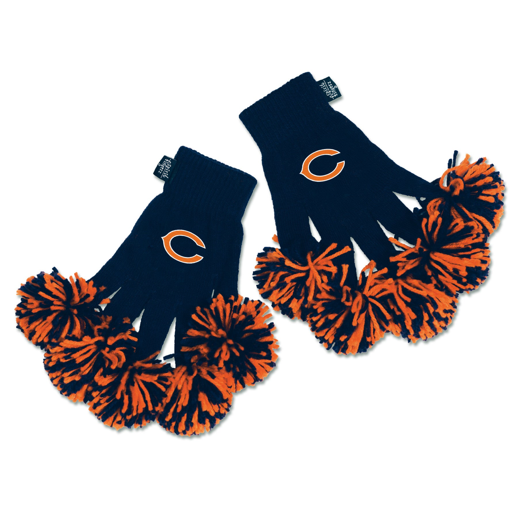 Chicago Bears NFL Spirit Fingerz Cheerleading Pom-Pom Gloves