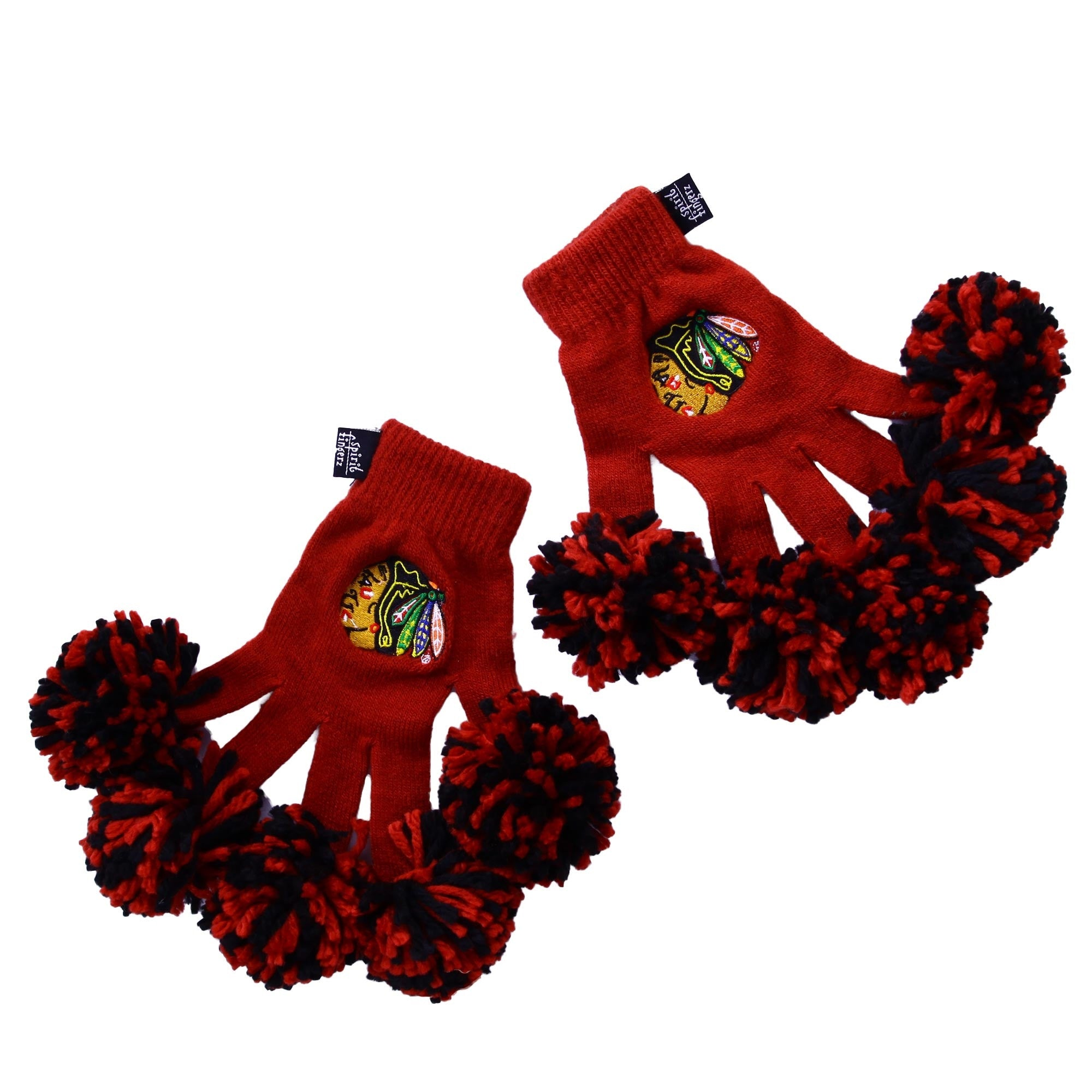 Chicago Blackhawks NHL Spirit Fingerz Cheerleading Pom-Pom Gloves
