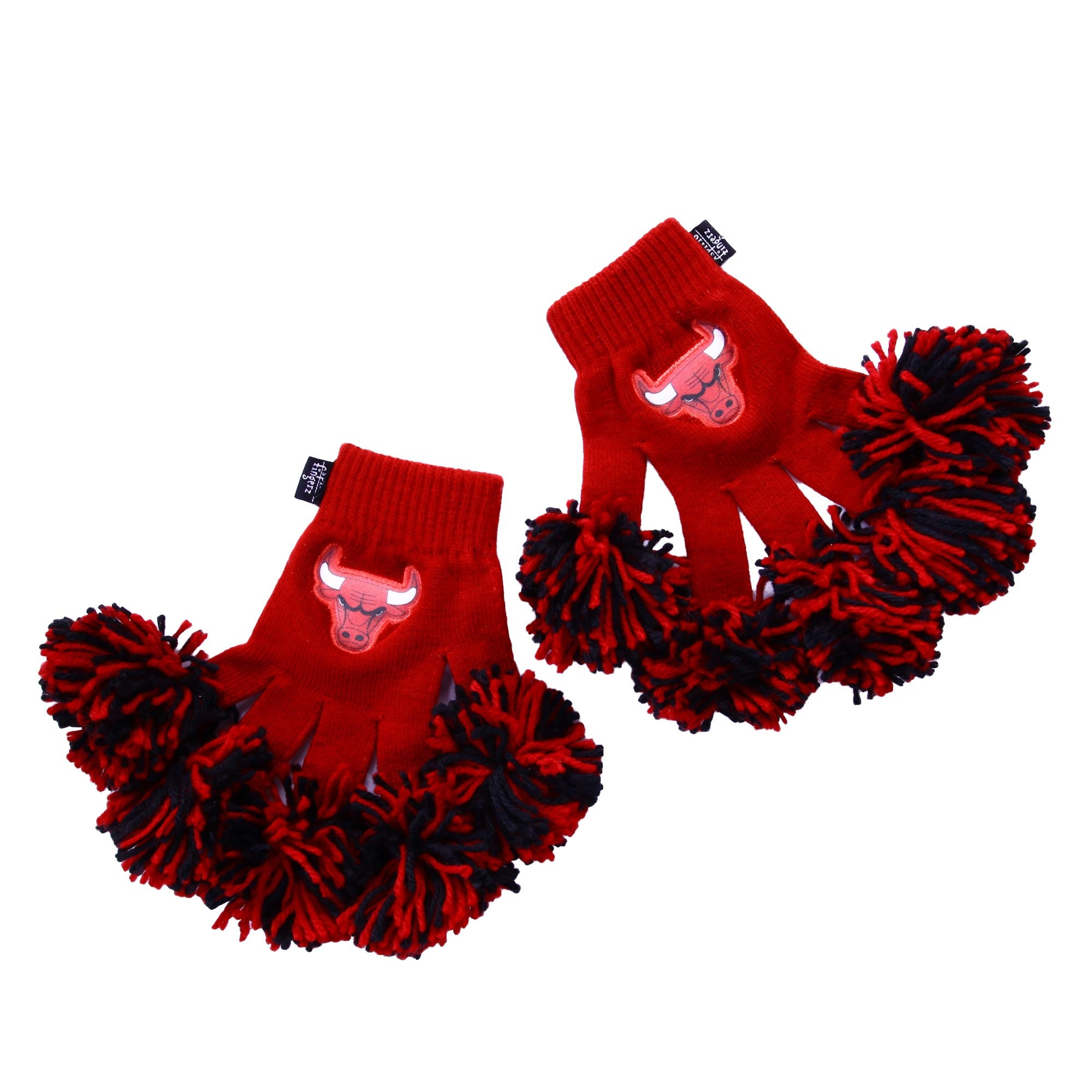 Chicago Bulls NBA Spirit Fingerz Cheerleading Pom-Pom Gloves