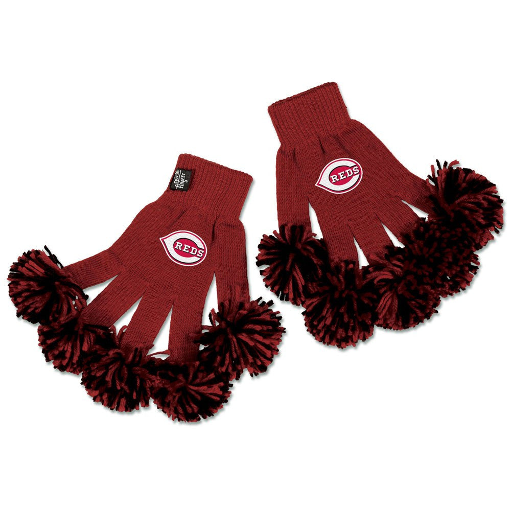 Cincinnati Reds MLB Spirit Fingerz Cheerleading Pom-Pom Gloves