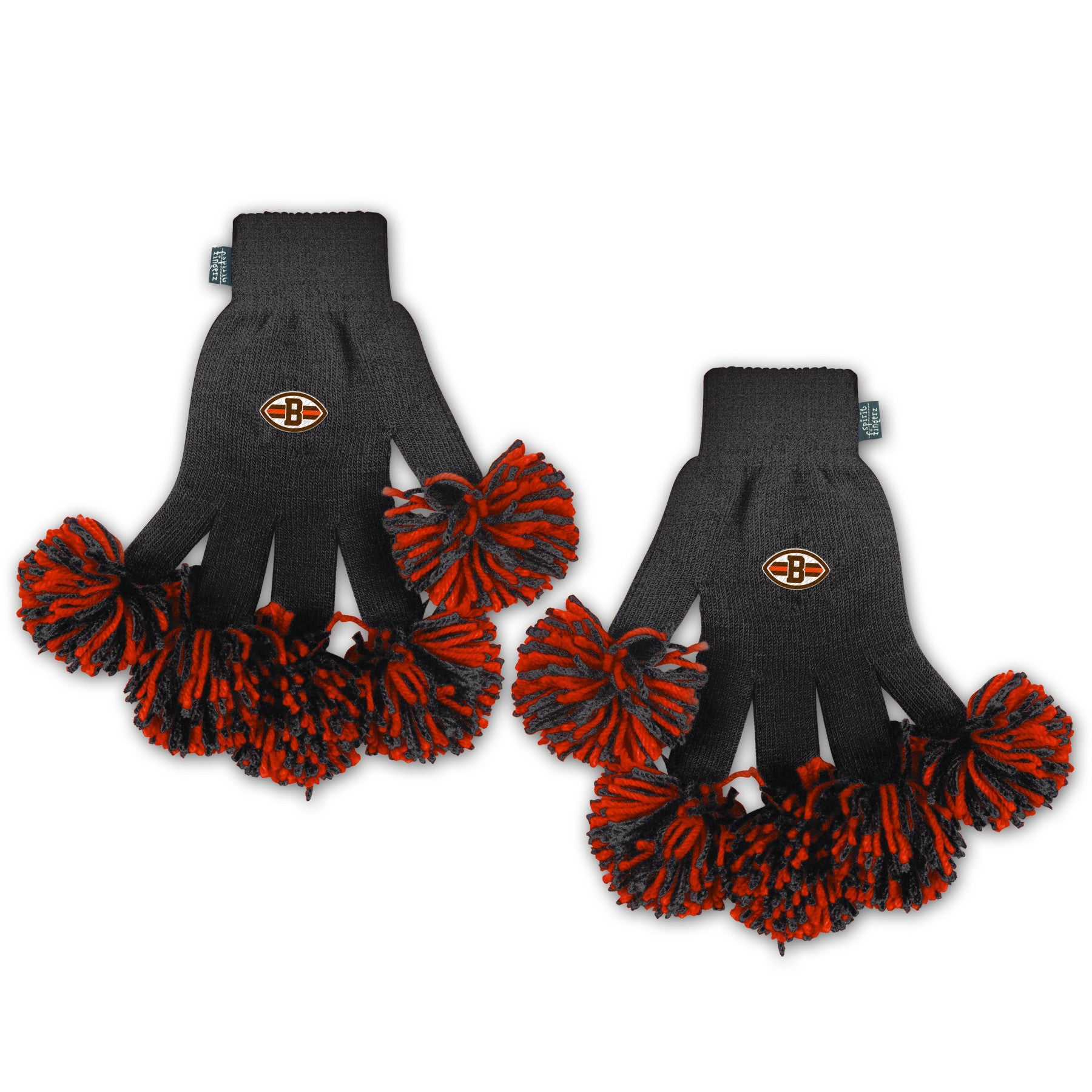 Cleveland Browns NFL Spirit Fingerz Cheerleading Pom-Pom Gloves