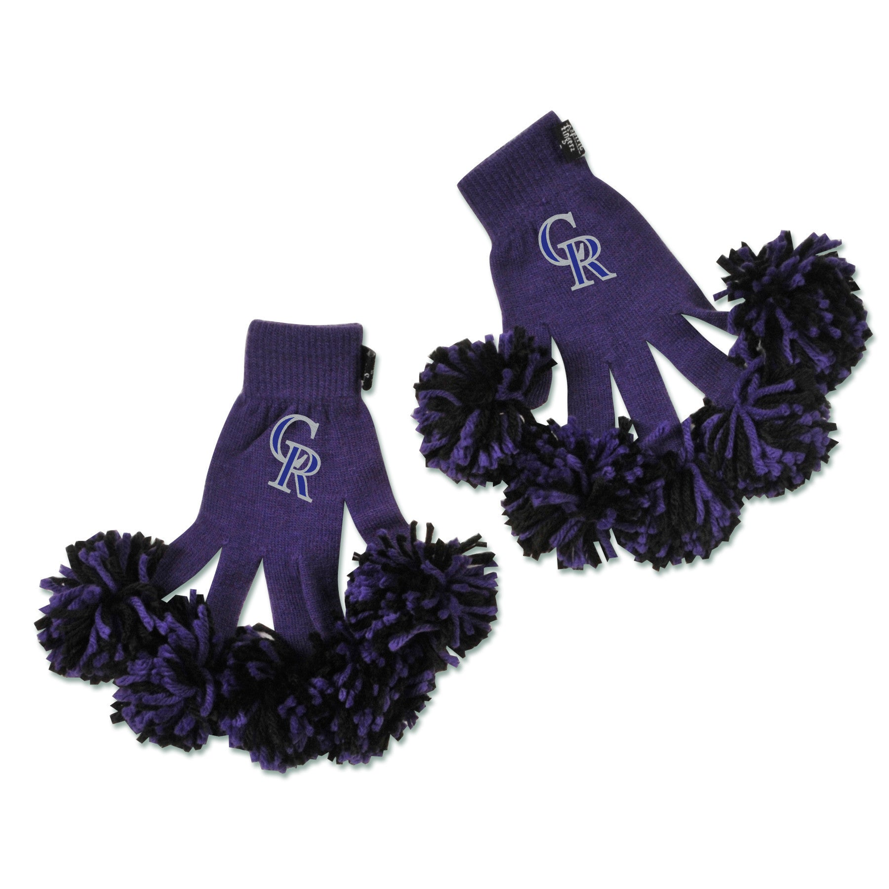 Colorado Rockies MLB Spirit Fingerz Cheerleading Pom-Pom Gloves