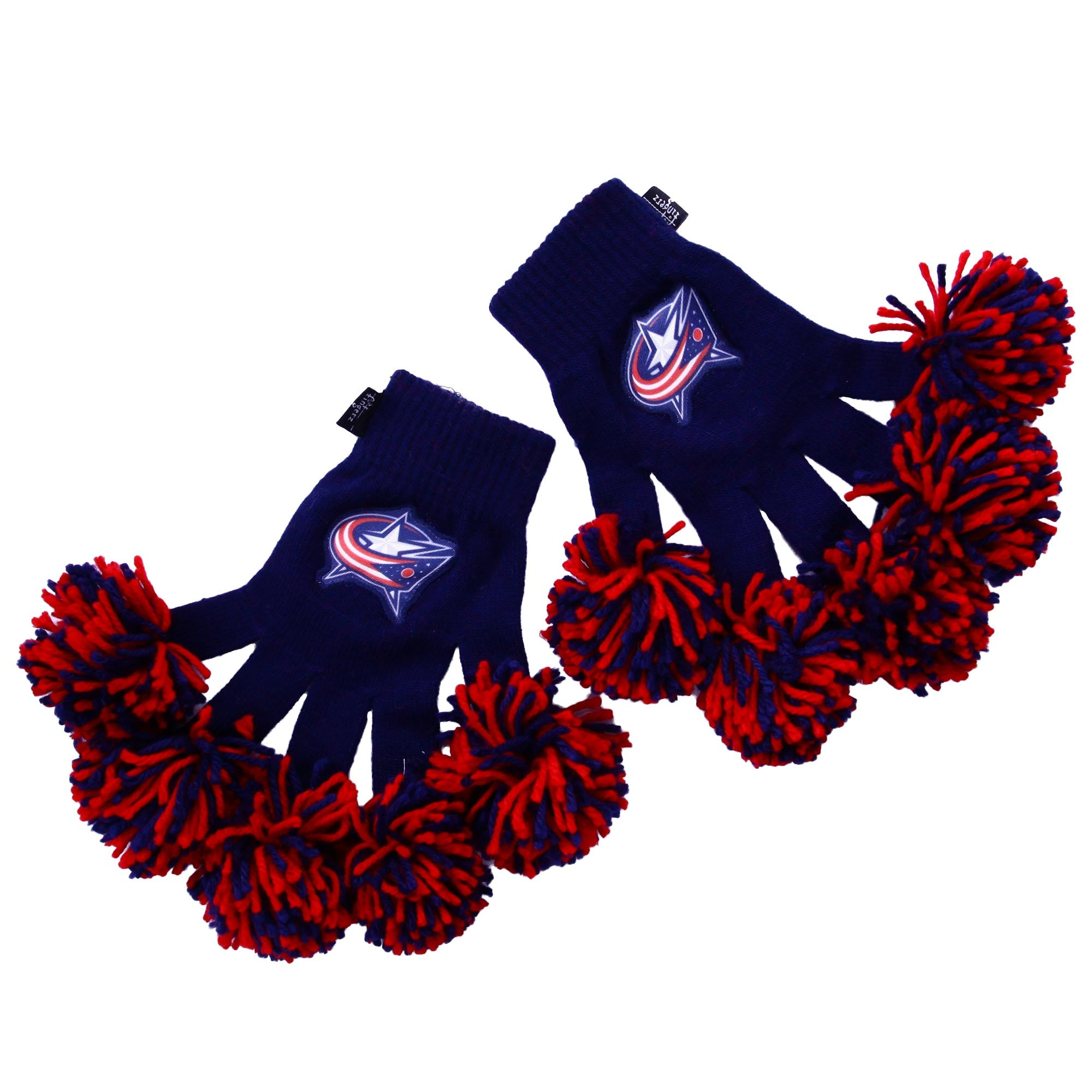 Columbus Blue Jackets NHL Spirit Fingerz Cheerleading Pom-Pom Gloves