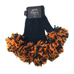 Dark Green & Light Orange Spirit Fingerz Cheerleading Pom-Pom Gloves