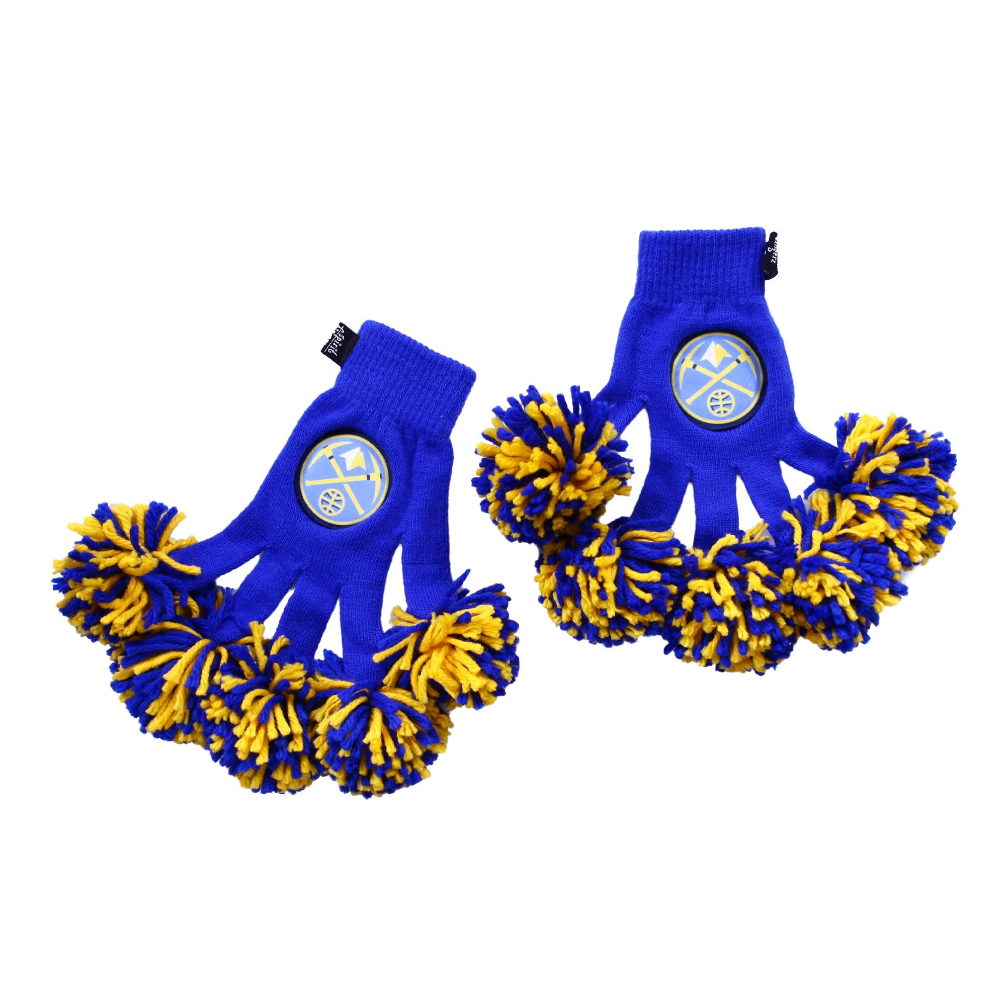 Denver Nuggets NBA Spirit Fingerz Cheerleading Pom-Pom Gloves