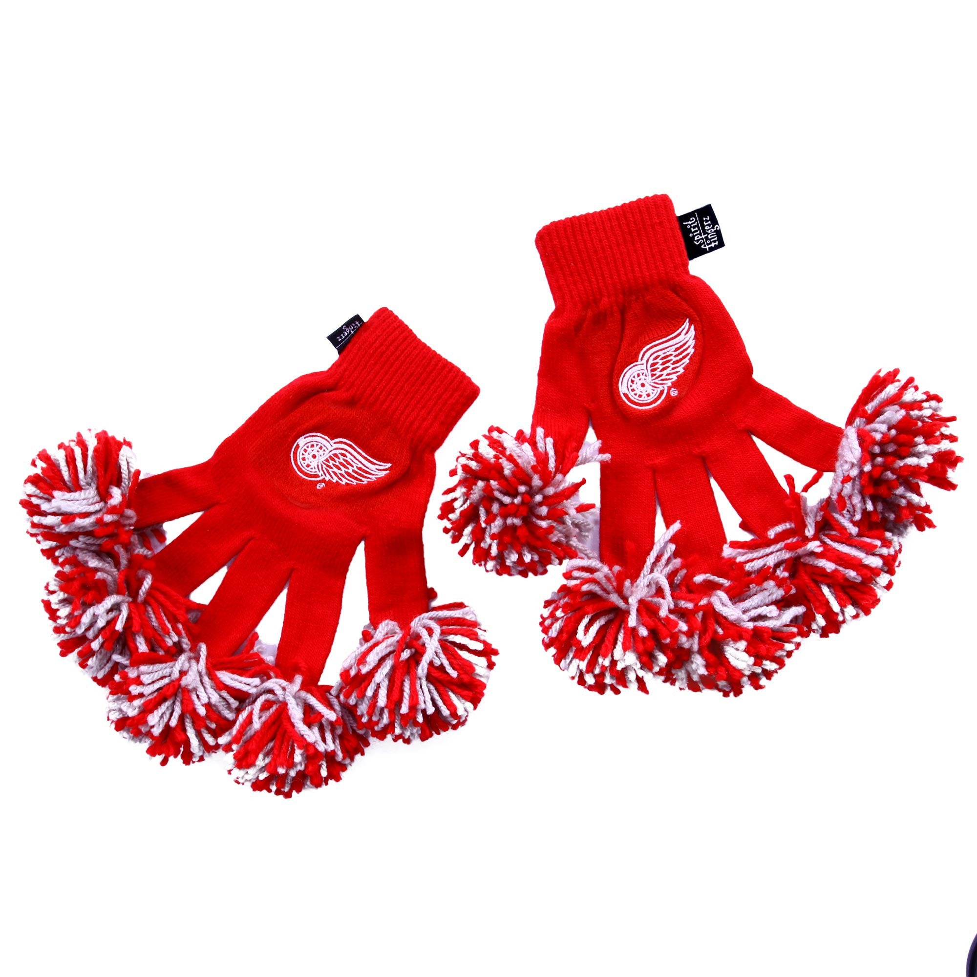 Detroit Red Wings NHL Spirit Fingerz Cheerleading Pom-Pom Gloves
