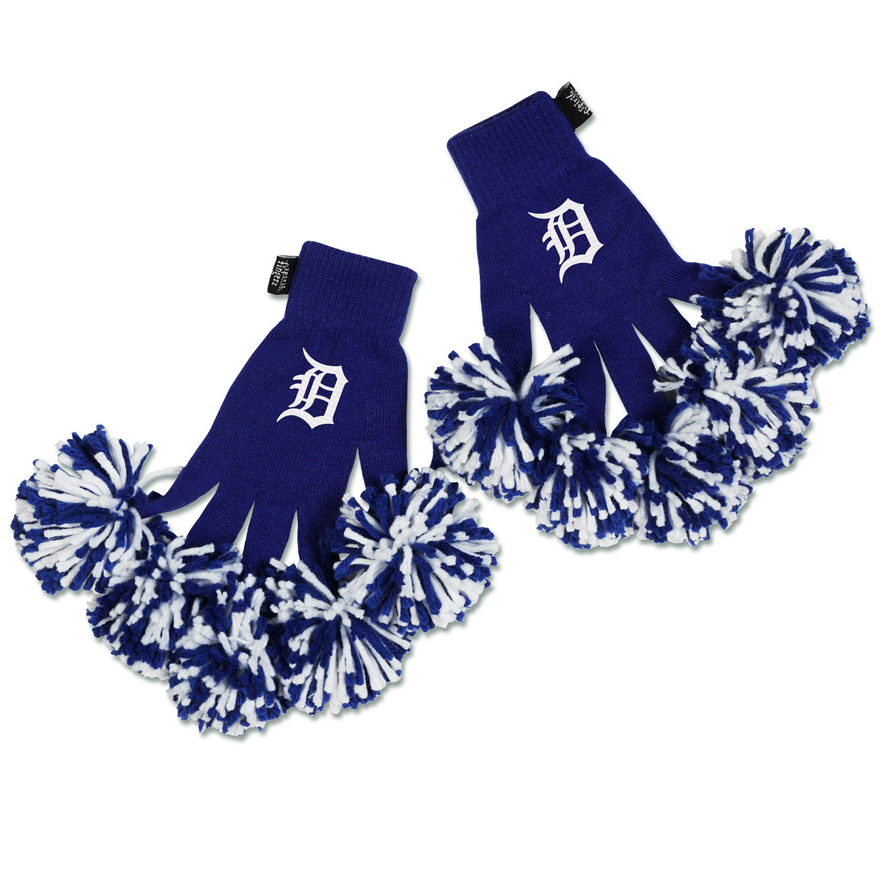 Detroit Tigers MLB Spirit Fingerz Cheerleading Pom-Pom Gloves