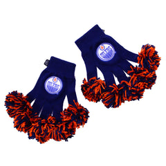 Edmonton Oilers NHL Spirit Fingerz Cheerleading Pom-Pom Gloves