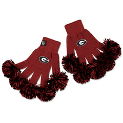 Georgia Bulldogs NCAA Spirit Fingerz Cheerleading Pom-Pom Gloves