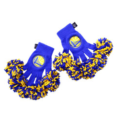 Golden State Warriors NBA Spirit Fingerz Cheerleading Pom-Pom Gloves