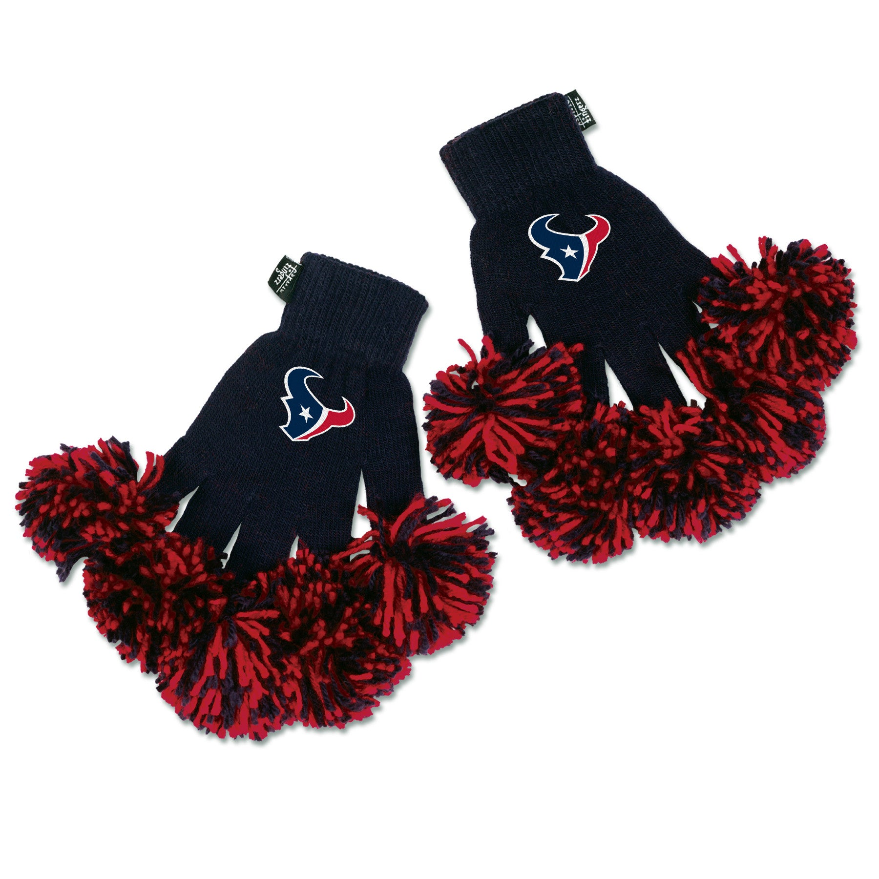 Houston Texans NFL Spirit Fingerz Cheerleading Pom-Pom Gloves