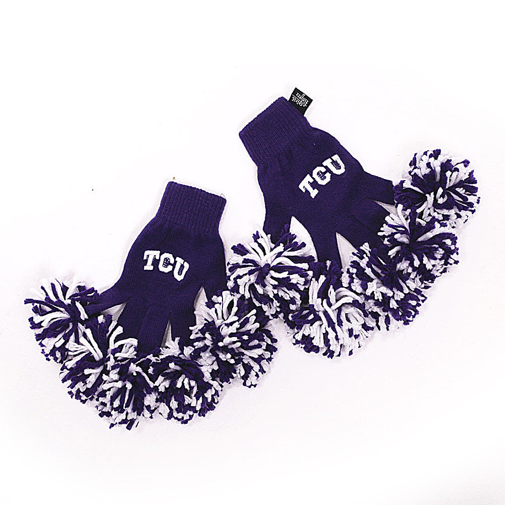 Texas Christian Horned Frogs NCAA Spirit Fingerz Cheerleading Pom-Pom Gloves