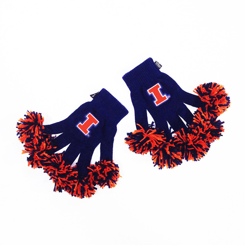 Illinois Fighting Illini NCAA Spirit Fingerz Cheerleading Pom-Pom Gloves