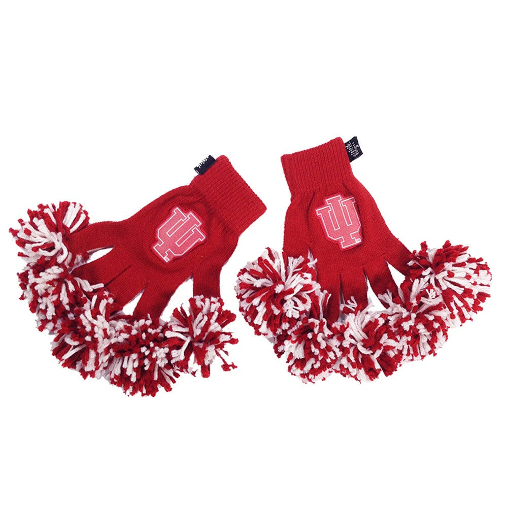 Indiana Hoosiers NCAA Spirit Fingerz Cheerleading Pom-Pom Gloves