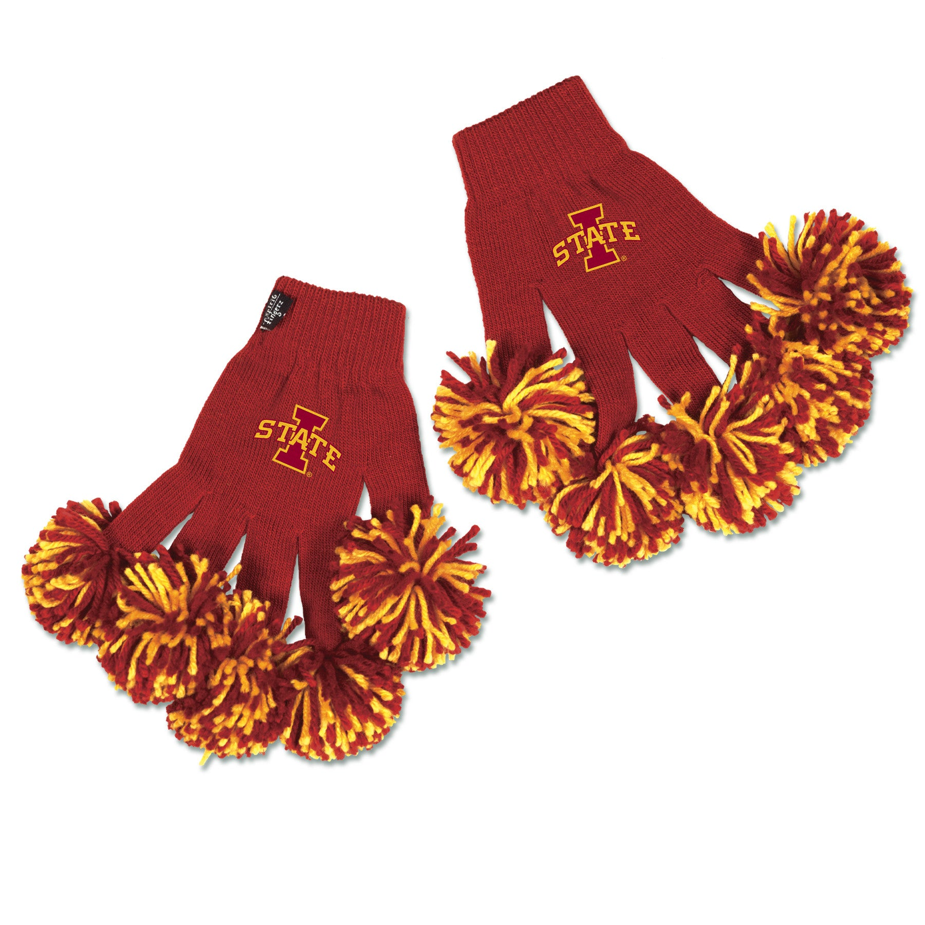 Iowa State Cyclones NCAA Spirit Fingerz Cheerleading Pom-Pom Gloves