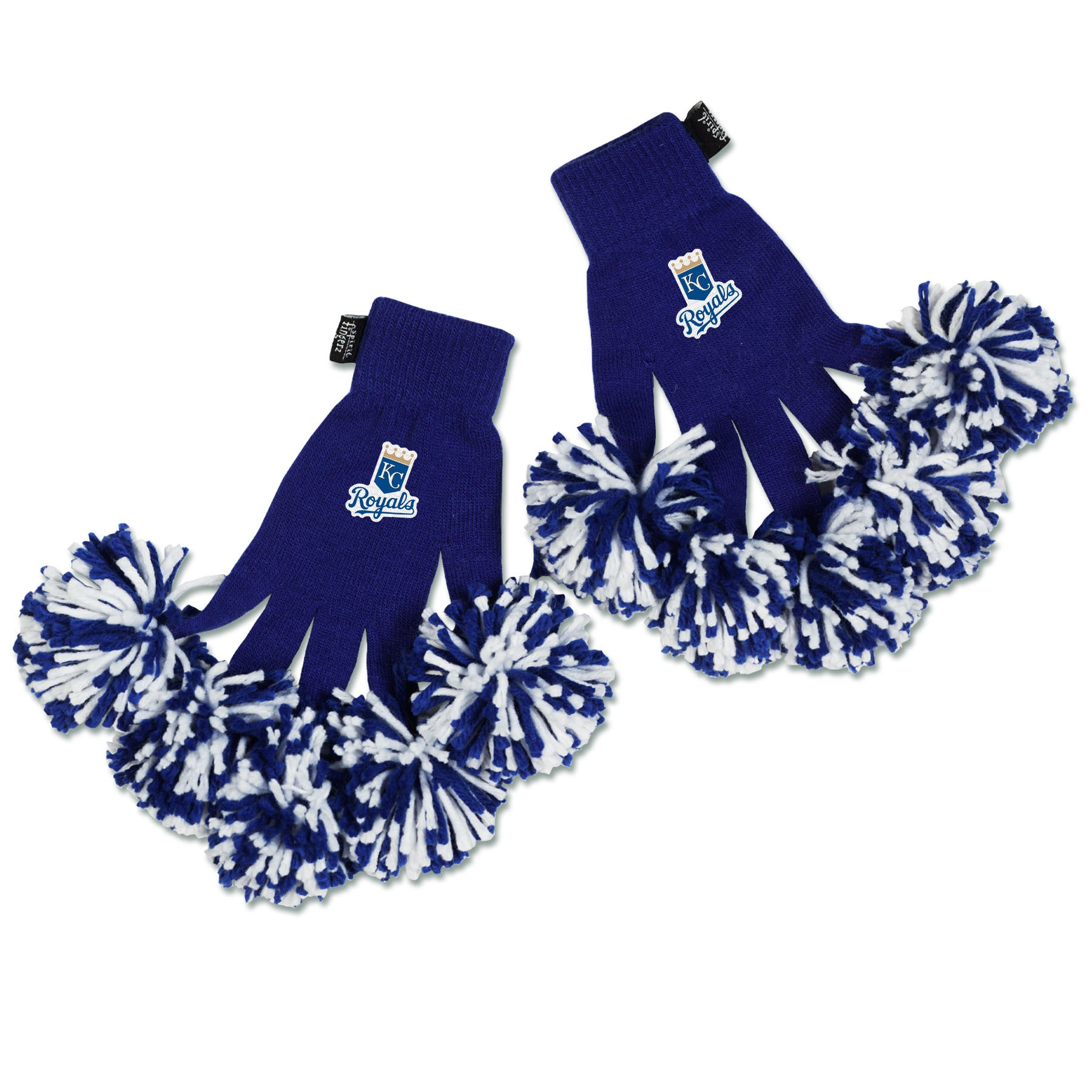 Kansas City Royals MLB Spirit Fingerz Cheerleading Pom-Pom Gloves
