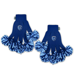 Sporting Kansas City MLS Spirit Fingerz Cheerleading Pom-Pom Gloves