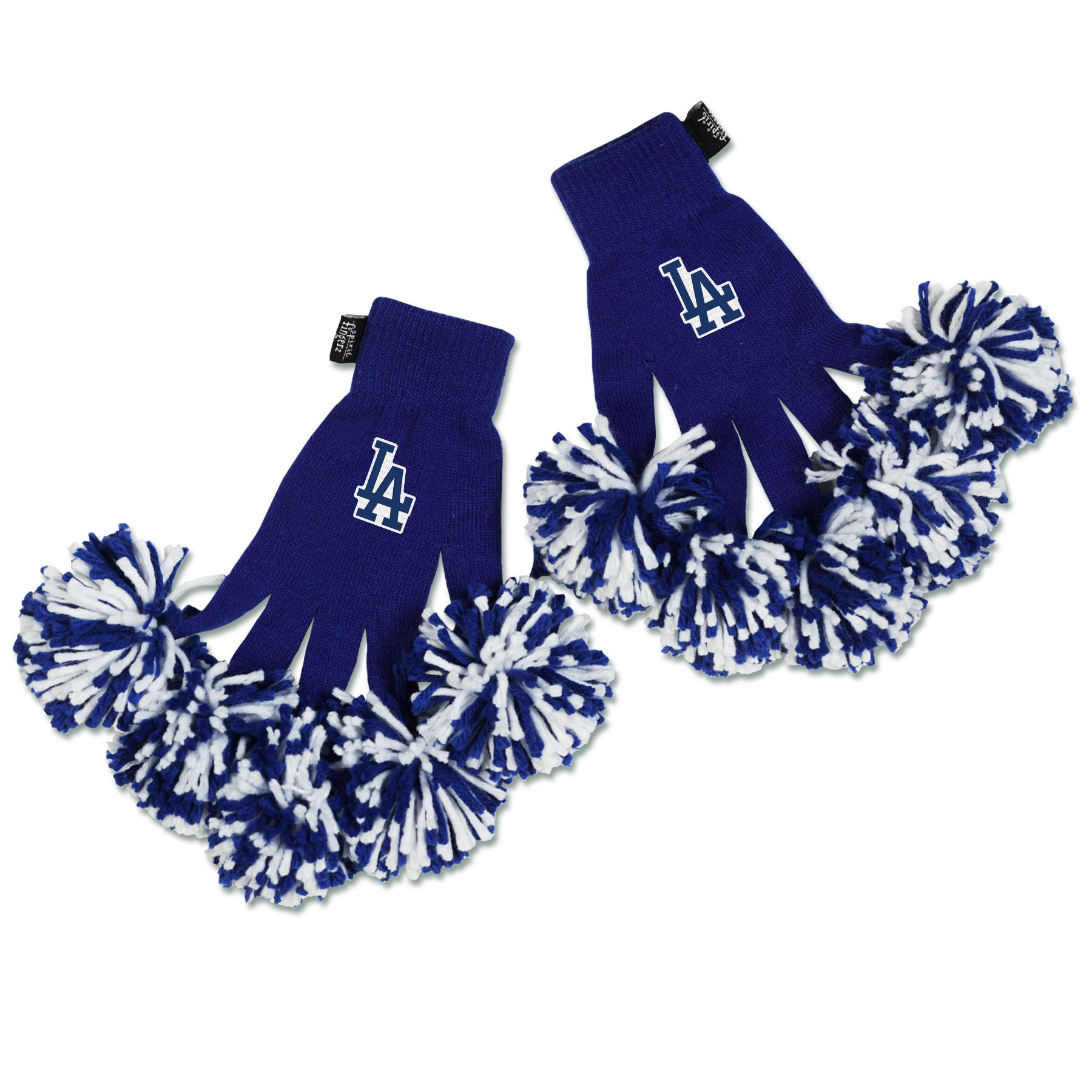 Los Angeles Dodgers MLB Spirit Fingerz Cheerleading Pom-Pom Gloves