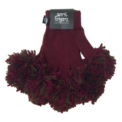 Maroon & Espresso Spirit Fingerz Cheerleading Pom-Pom Gloves