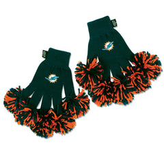 Miami Dolphins NFL Spirit Fingerz Cheerleading Pom-Pom Gloves
